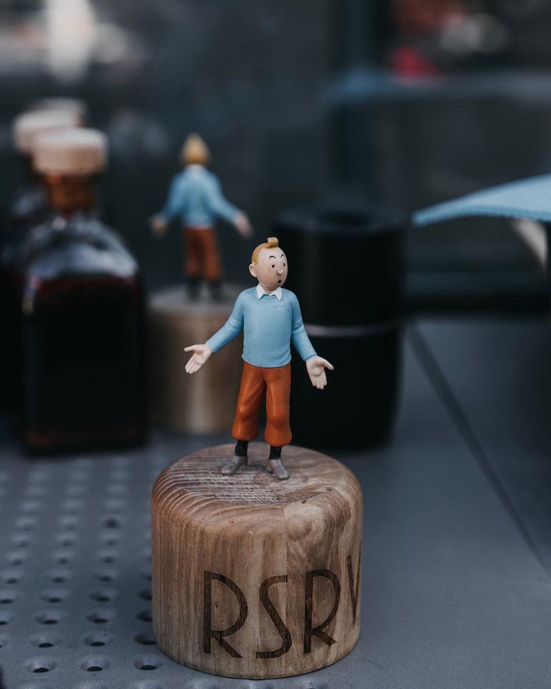 Image d'illustration de Tintin, référence culturelle français difficilement transposable en anglais.
