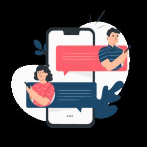 Illustration de messagerie : Chattez avec votre traducteur !