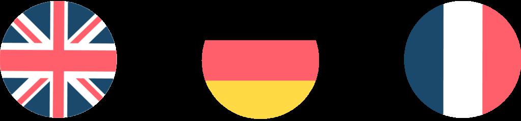 traducteurs professionnels allemands drapeaux