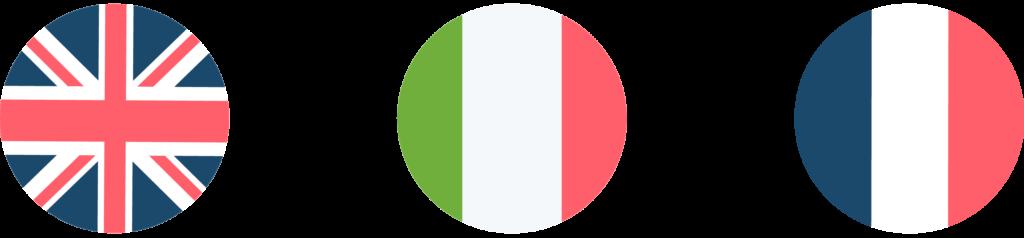 traducteur en italien drapeaux