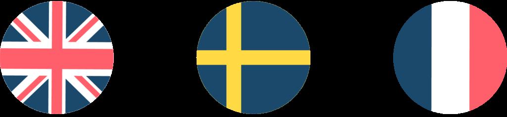traducteurs en suédois drapeaux
