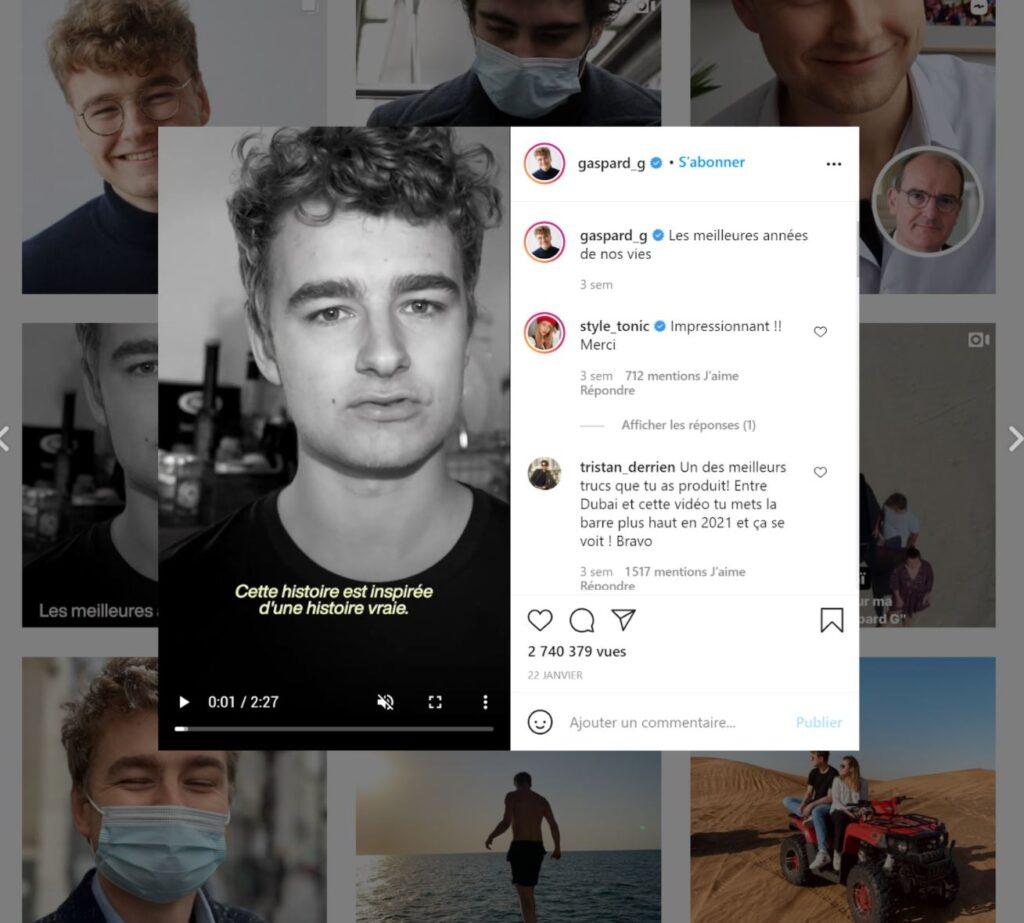 Gaspardg confie la traduction des sous-titres de sa vidéo à MyBrian